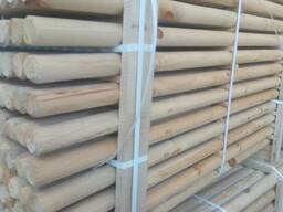 Rounded poles (pins, logs, bars ) made of pine.