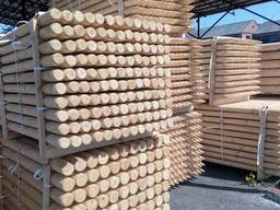Rounded poles (pins, logs, bars ) made of pine. - photo 3